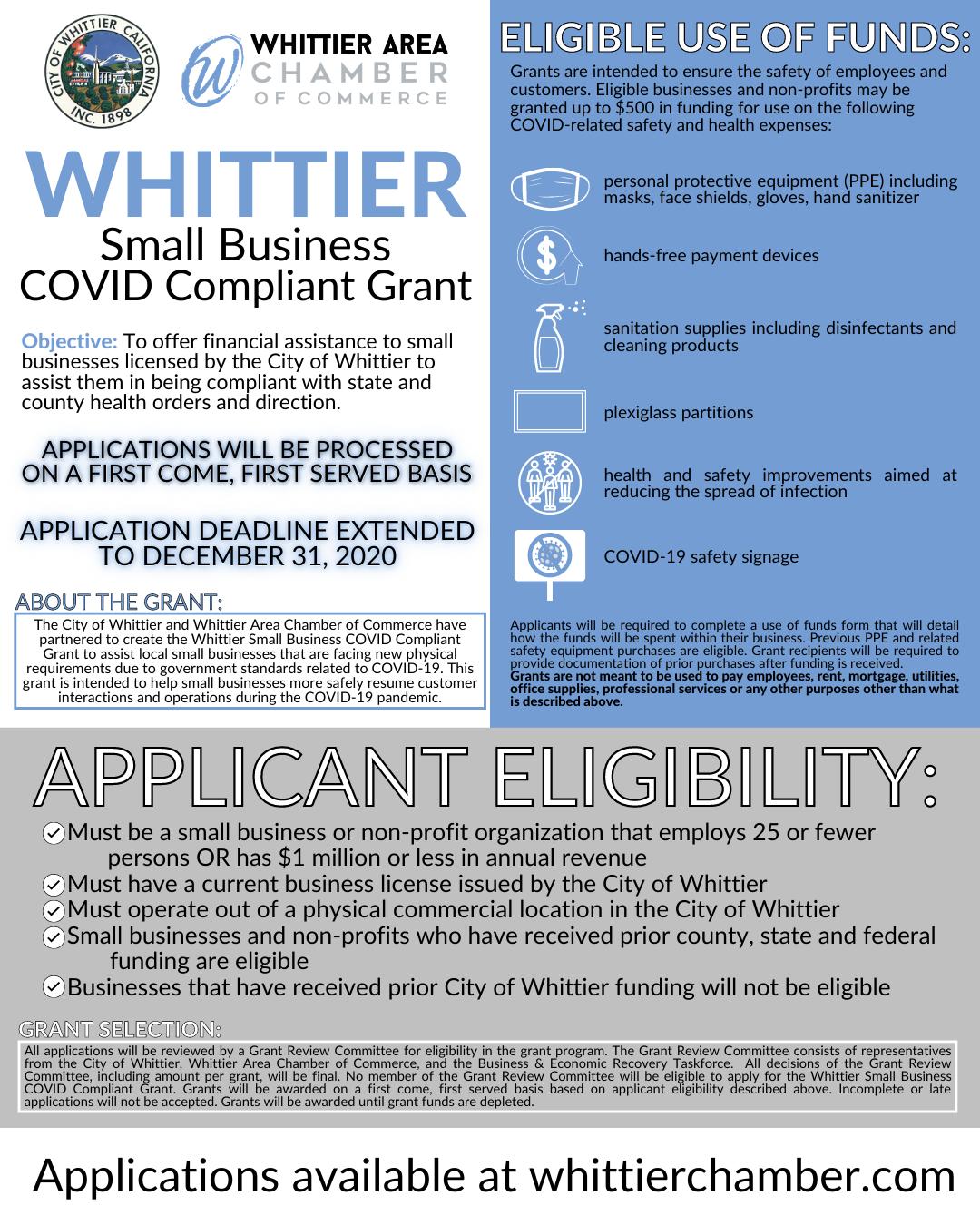 12.31.2020 Whittier Small Businsess COVID Compliant Grant