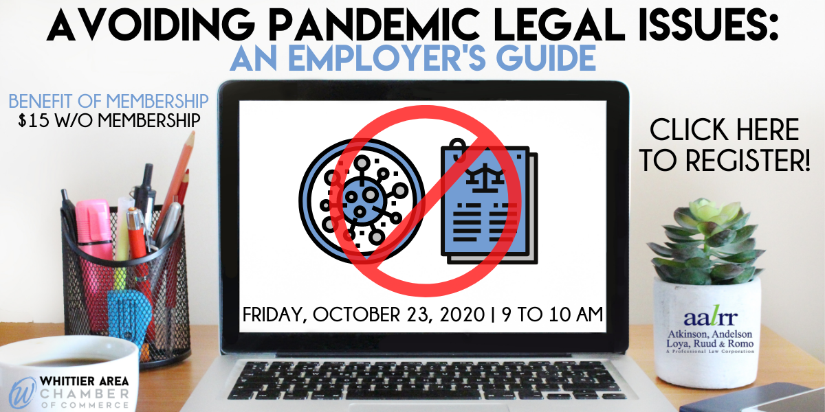 AVOIDING PANDEMIC LEGAL ISSUES