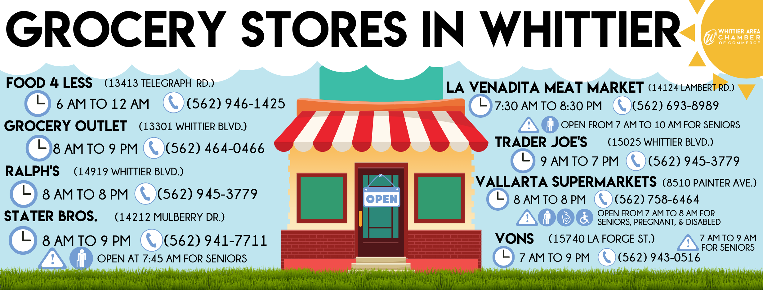 Grocery Stores in Whittier fb post