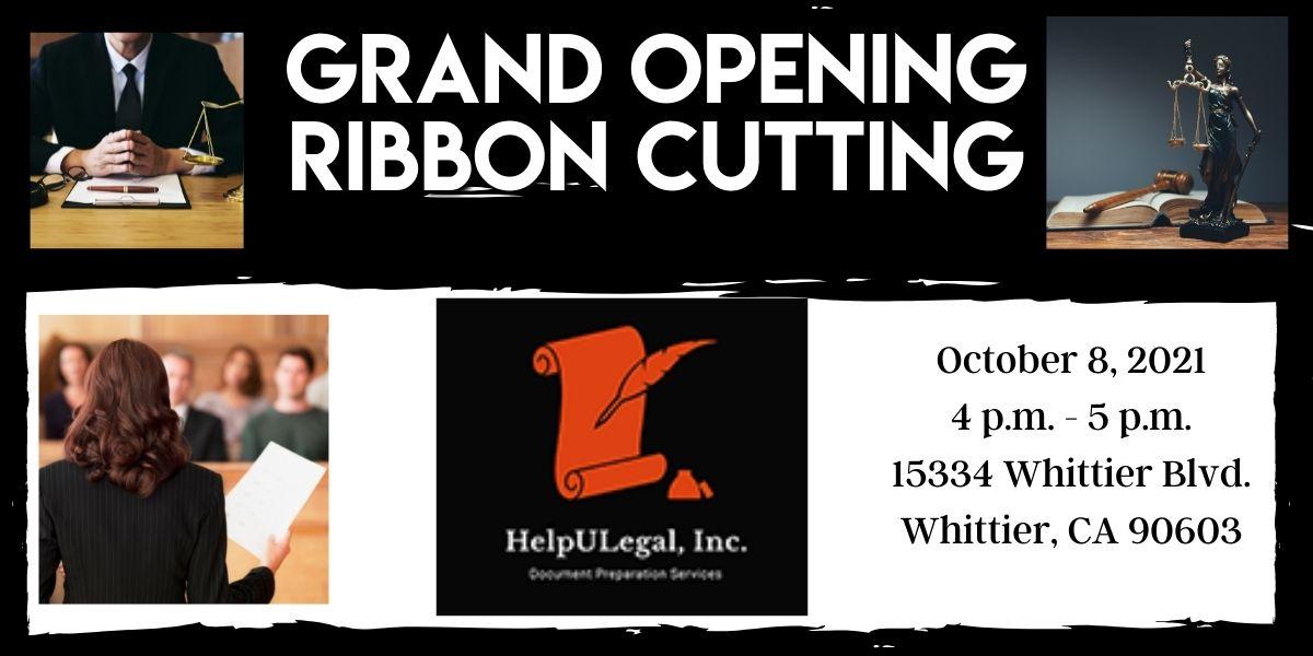 Help U Legal Ribbon Cutting