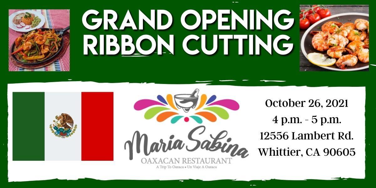 Maria Sabina Ribbon Cutting