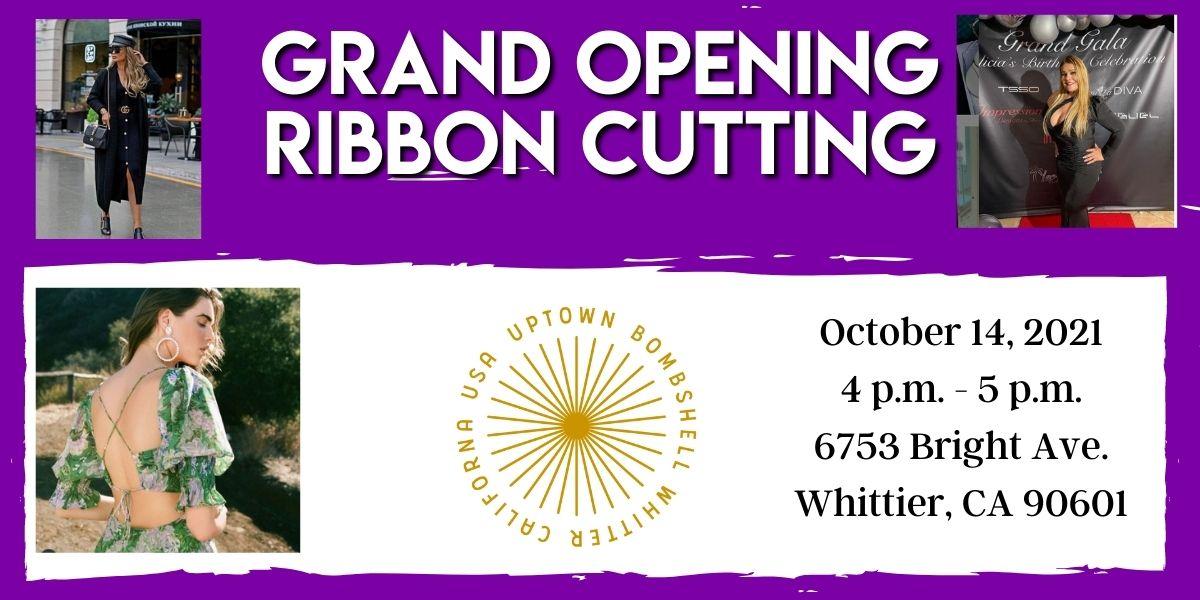 Uptown Bombshell Ribbon Cutting