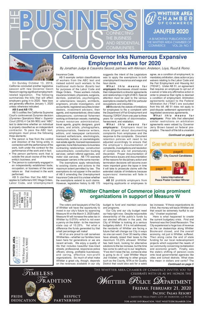 thumbnail of JAN FEB – 2020 Business Focus